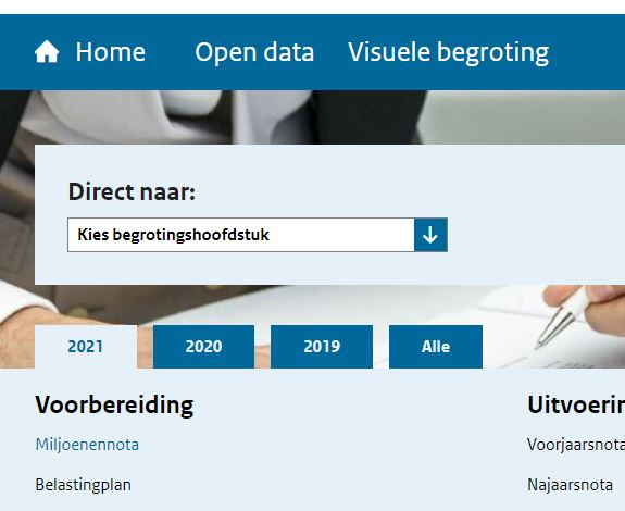 screenshot van beta.rijksfinancien.nl